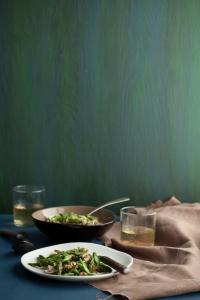 Miso Mushroom and Asparagus Salad