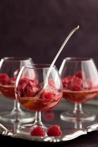 Raspberry Lychee Sorbet